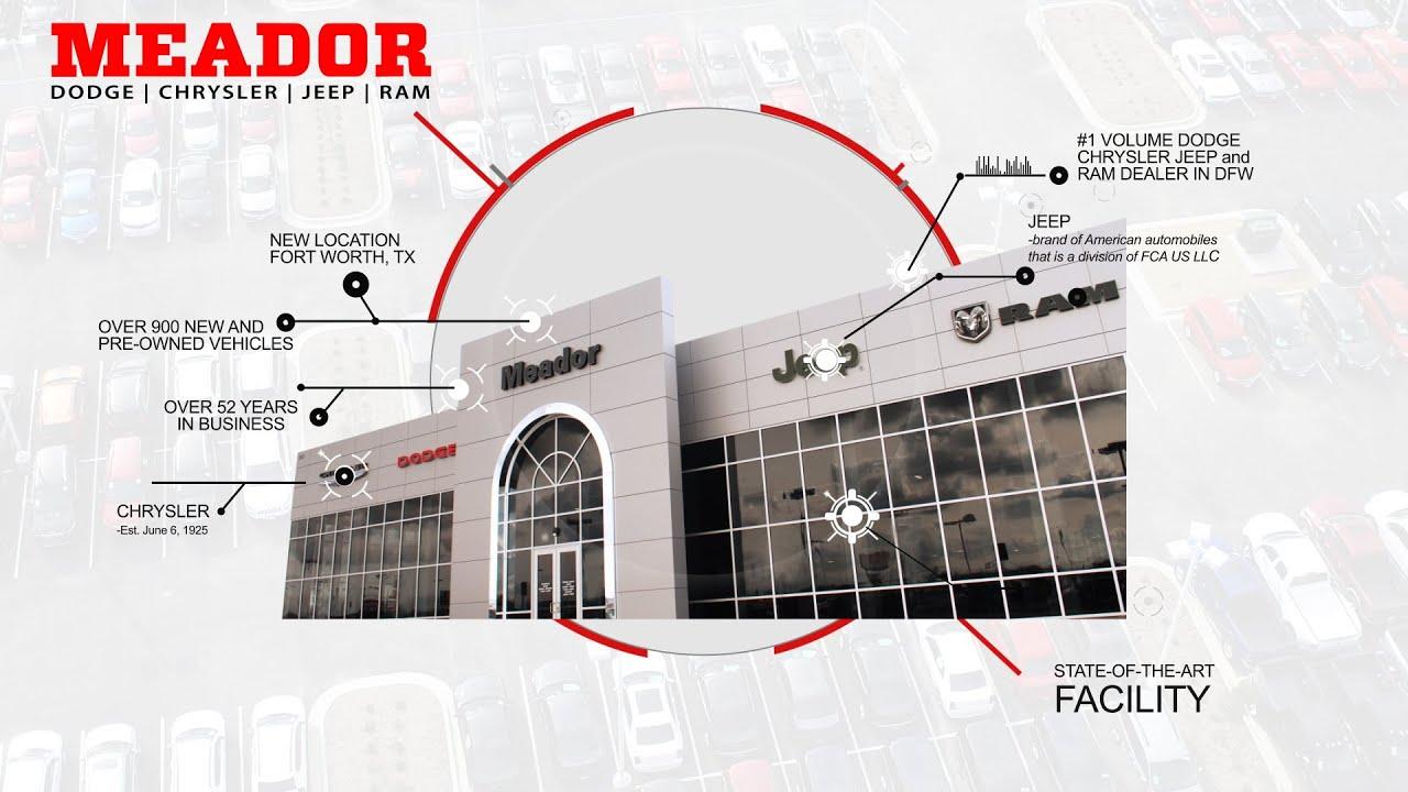 meador dodge chrysler jeep ram 9501 i35 fort worth tx 76140 automotive dealer youtube. Black Bedroom Furniture Sets. Home Design Ideas