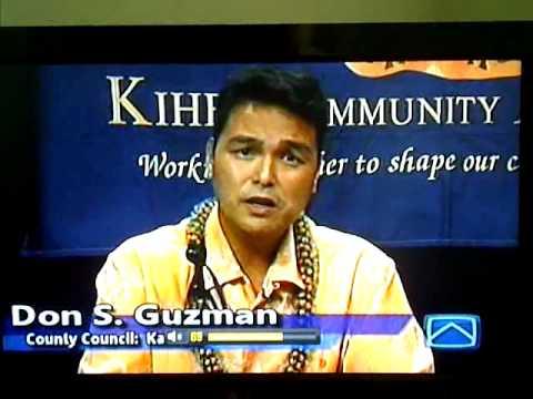 2012 Maui County Council Candidate forum-Kahului Candidates Part 1