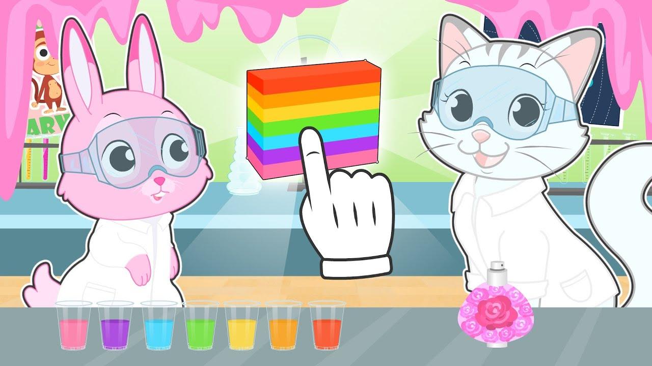 BABY PETS 🧼✨ Ruby y Kira hacen Jabón de Colores en casa 🌈Experimentos para niños