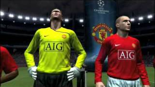 Pro Evolution Soccer 2009 Man United Champions league video game on Nintendo Wii