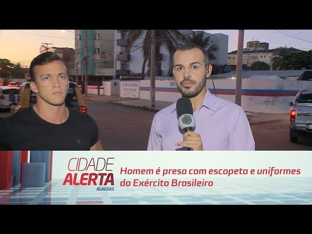 Homem é preso em Marechal com escopeta e uniformes do Exército Brasileiro