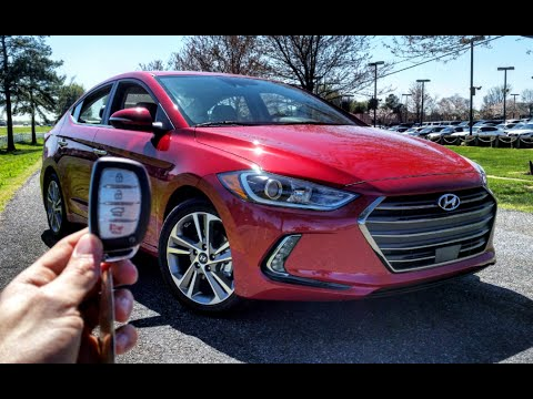 2017 Hyundai Elantra Limited Start Up, Test Drive and Review
