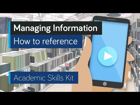 ASK Online Learning Resources 3.2: Managing Information - How to reference
