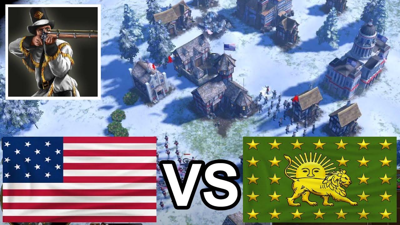 USA is coming! Kaiserklein vs OPTIMUS_PRIME! [Age of Empires 3: Definitive Edition]