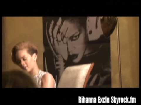 Rihanna conférence de presse exclu Skyrock.fm