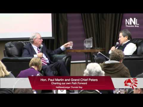Grand Chief Peters and Paul Martin Q & A at Chiefs of Ontario Education 2015 9