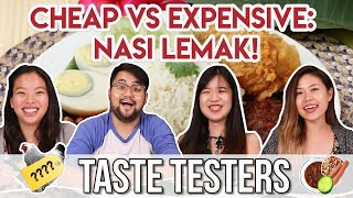Cheap VS Expensive Nasi Lemak   Taste Testers   EP 9