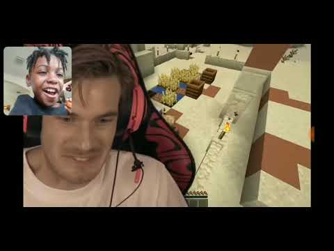 I found a pewdiepie boss in minecraft ( real) reaction
