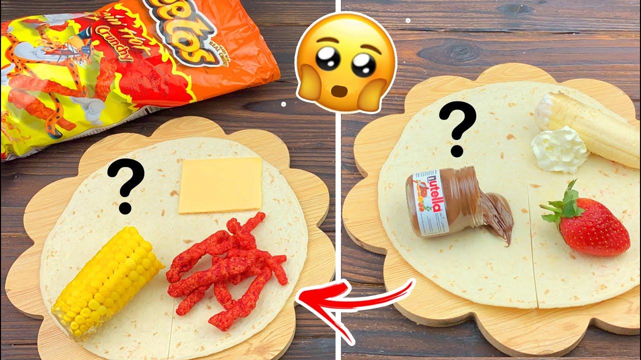 سويت اشهر واسهل الساندويتشات لجوع اخر الليل 🤩🔥!! ساندوتش بالشيتوس الأحمر !🔥