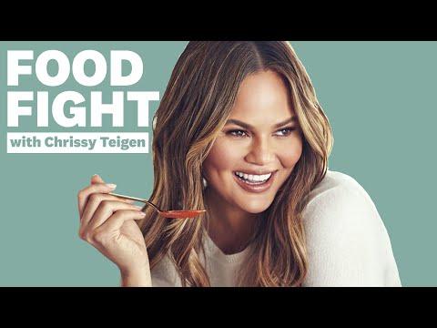 Chrissy Teigen Tries Insane Chip Flavors | Food Fight | Women's Health