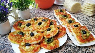 mini Pizza nouvelle recette facile rapide ramadan2019 cuisine marocaine
