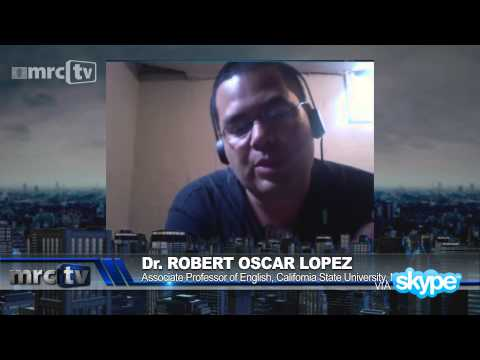 A Bisexual Man   Dr. Oscar Robert Lopez  who was raised by two lesbians in california speaks against Gay Marriage