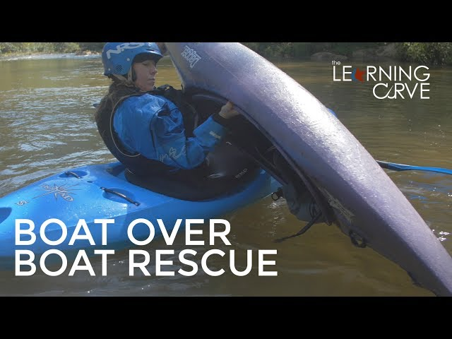 Kayak rescues, boat over boat draining