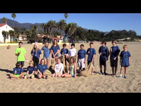 Save the Mermaids + Santa Barbara Middle School Support Less Butts on the Beach