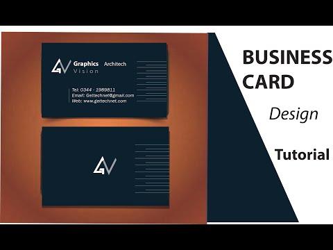 Creating a Professional and Modren Business Card Design using  - Adobe Illustrator Tutorials thumbnail