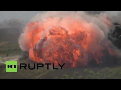 """RAW: NATO's explosive """"Puma 15"""" military drills obliterate Polish countryside"""