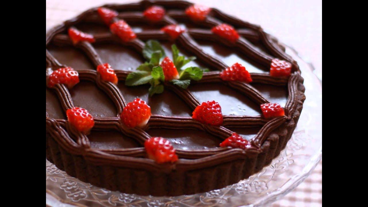 tarte au chocolat et fraises youtube