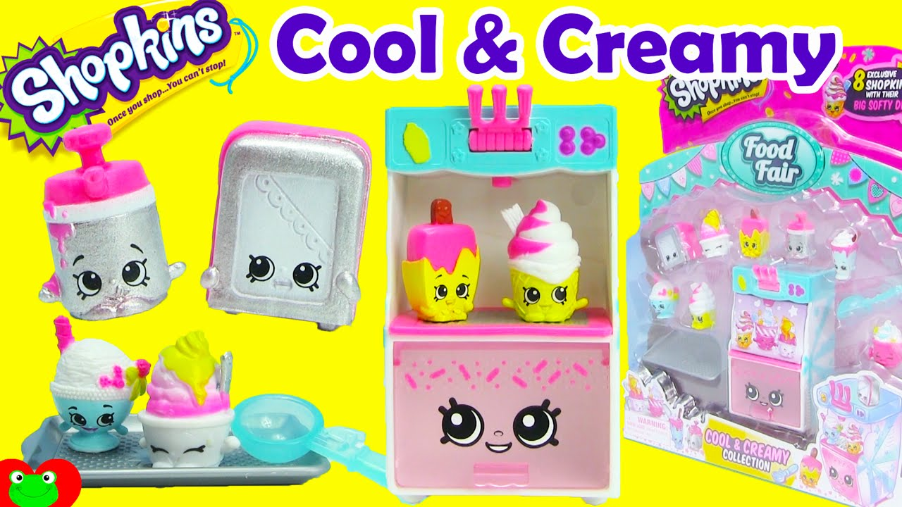 shopkins cool and creamy playset season 3 food fair collection youtube