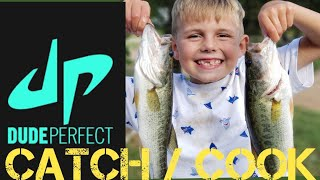 CATCH AND COOK WITH DUDE PERFECT FISHING ROD!