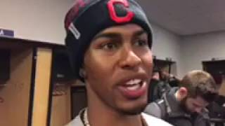 Indians SS Francisco Lindor with Kenny Roda