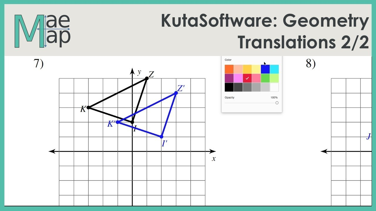 Kutasoftware Geometry Translations Part 2 Youtube