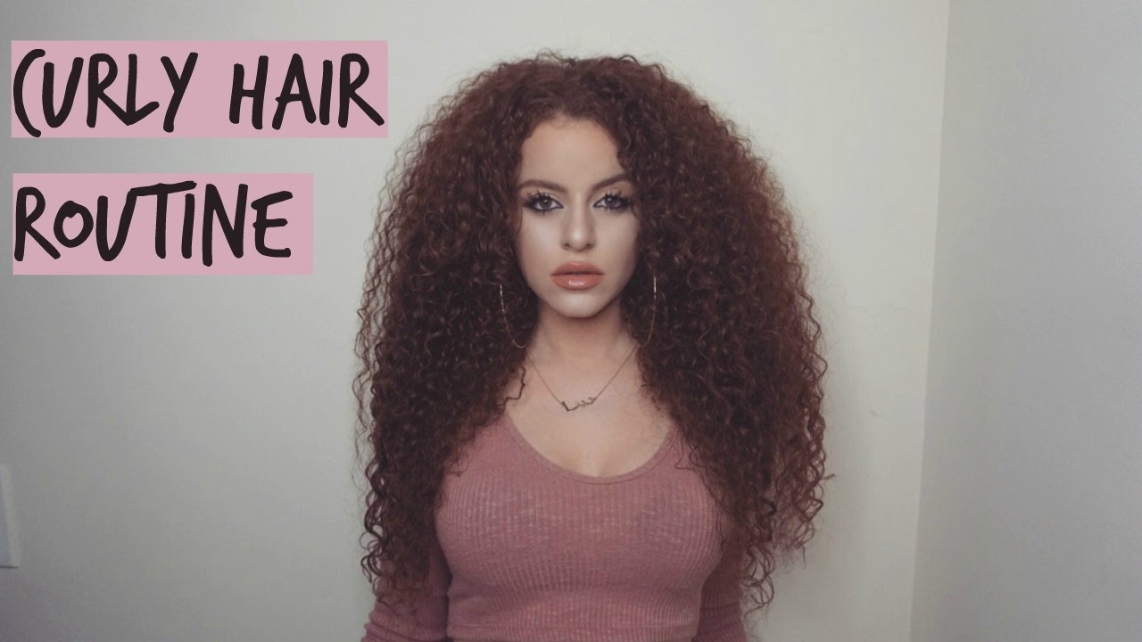 Big Curly Hair Styles: Curly Hair Routine 2017 (Defined Big Hair!!)