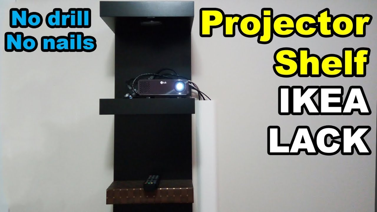 Ikea Lack Wall Shelf Unit Mount Projector Without Drilling With Ikea Lack Shelf Unit