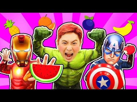 과일 야채 먹으면 슈퍼히어로 아이언맨 캡틴아메리카 헐크로 변신! Superhero Eat Healthy Vegetables 럭키강이 LuckyKangi