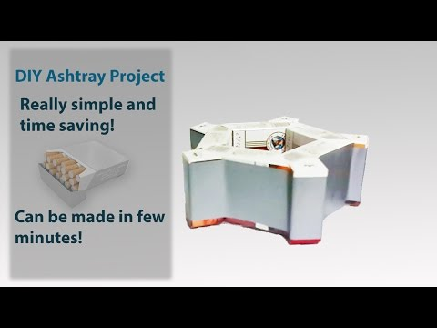 How To Made Ashtray By Cigratte Packets