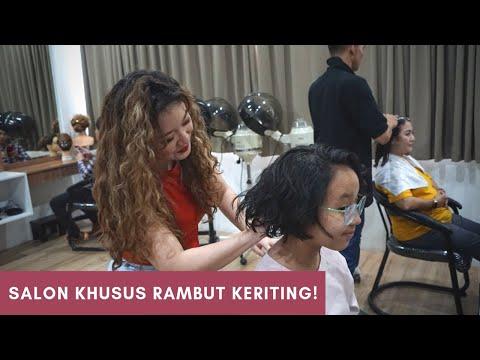 Salon Khusus Rambut Keriting! | Vlog Affi & Aluf