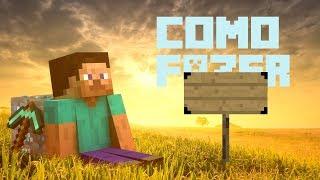 Como Fazer: Placa No Minecraft