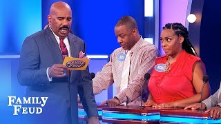OMG! Mesha's miracle answer WINS THE CAR!   Family Feud
