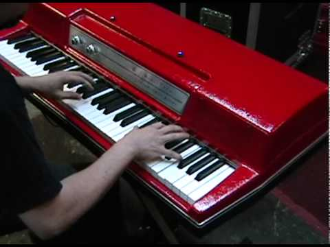 Wurlitzer 200A Electric Piano Restoration with Custom Red Top by Vintage Vibe