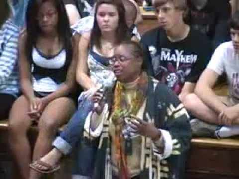 Cynthia McKinney at Walden III High School in Racine, Wisconsin