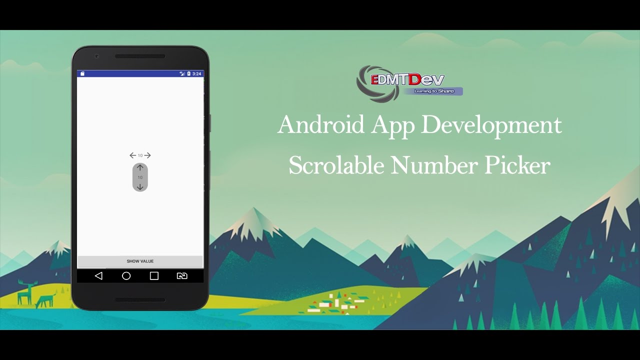 Android Image Picker android studio tutorial - scrollable number picker