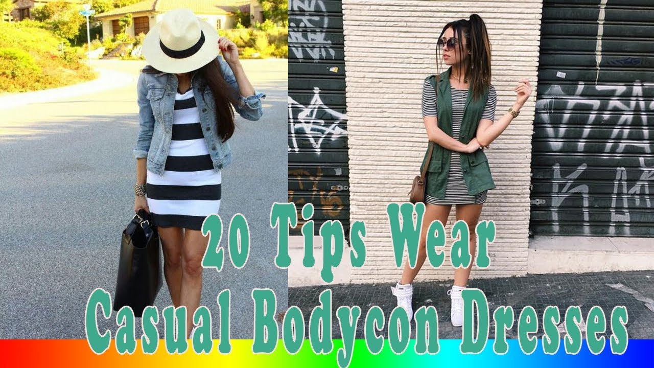 c8aa5cbb53 20 Style Tips On How To Wear Casual Bodycon Dresses - YouTube