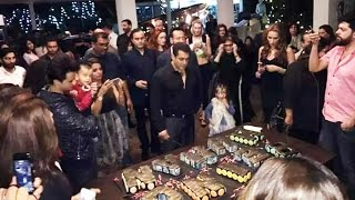 salman khans 51st grand birthday celebration with family friends at panvel farmhouse