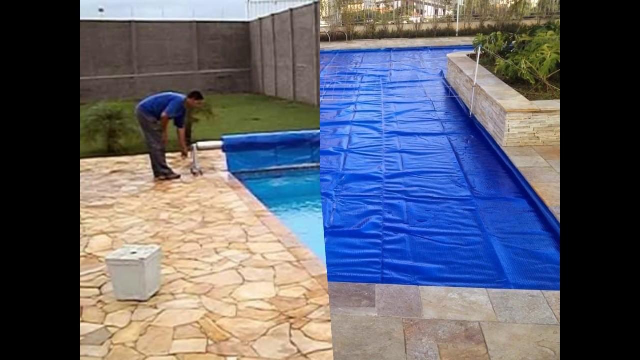 Capa t rmica para piscina youtube for Lona termica piscina