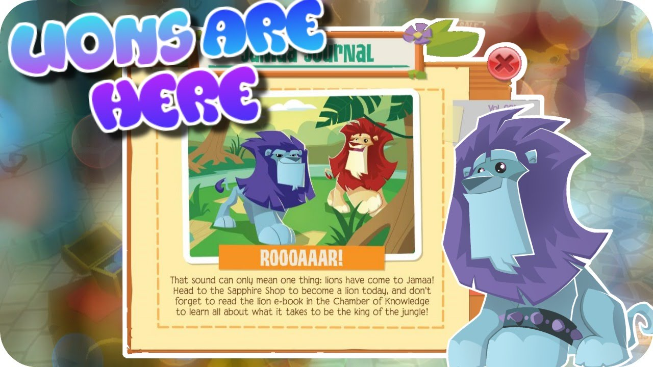 ANIMAL JAM PLAY WILD UPDATE: LIONS ARE HERE by PurpleLight AJ