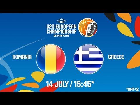 LIVE 🔴 – Romania v Greece – FIBA U20 European Championship 2018