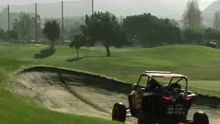 Ronnie Renner thrashes golf course on his KTM Motorcycle and Polaris RZR