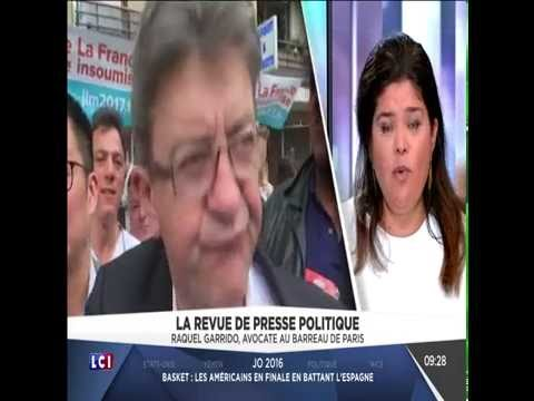 Raquel Garrido dans la revue de la presse sur  LCI le 20/08/2016