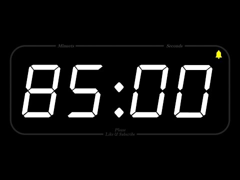 85 MINUTE - TIMER & ALARM - 1080p - COUNTDOWN