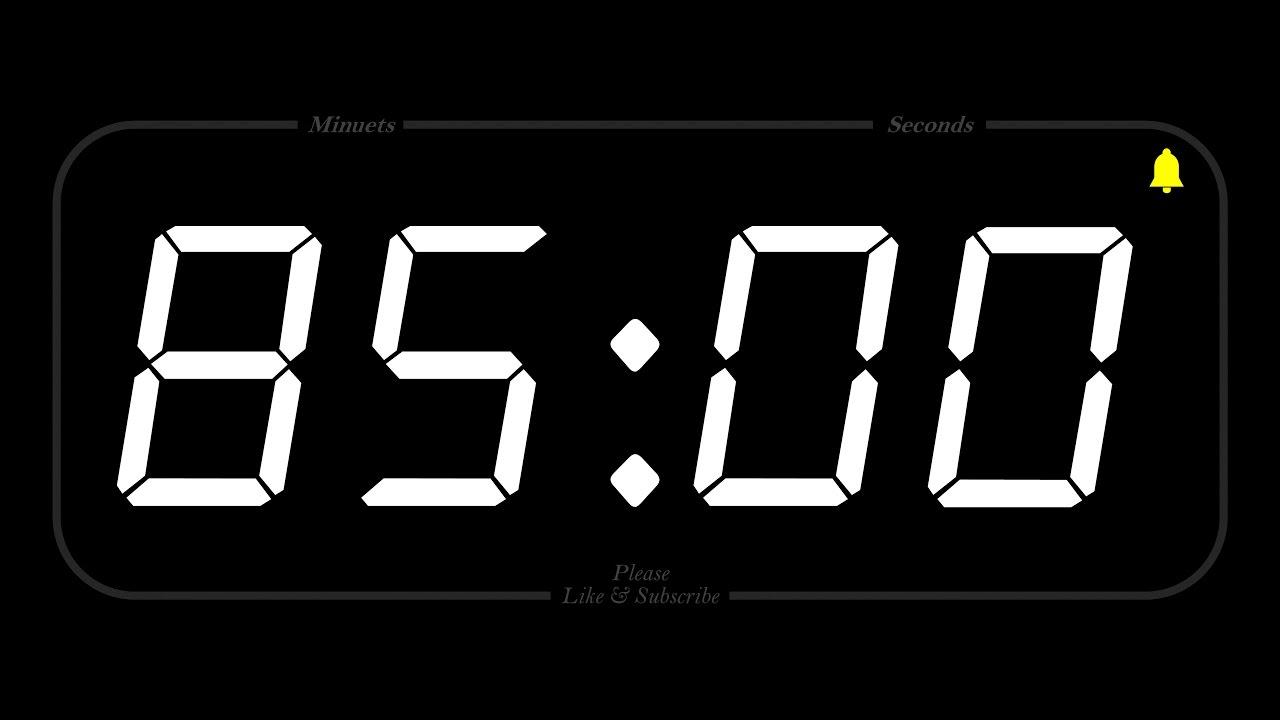 85 minute - timer  u0026 alarm - 1080p - countdown