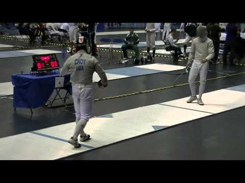 ND MCC Men Saber Gold Medal Match - Bout 58 - ND Jason Choy vs OSU Max Stearns 030313