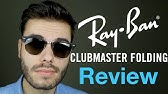 b61847a25a3 Ray-Ban RB3016 Clubmaster 901 58 (Polarized) Sunglasses Up Close ...