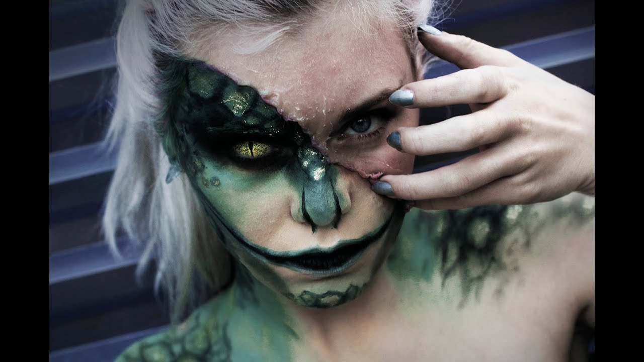 The Lizard - Halloween Makeup Time-Lapse - YouTube
