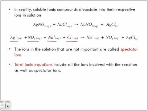 Net Ionic Equations and Spectator Ions - YouTube