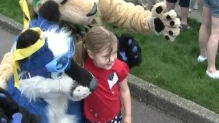 Fursuiting at Bothell Freedom Festival Grand Parade - July 4 2012