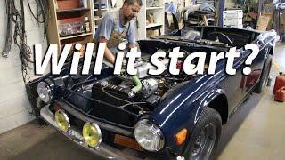 1973 Triumph TR6 Restoration - Will She Start